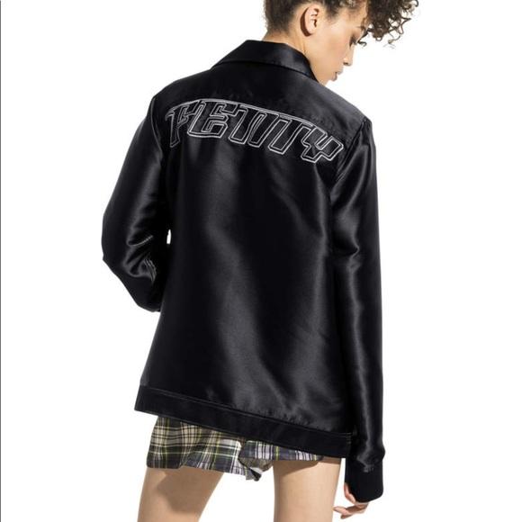 RihannaOversized RihannaOversized Fenty Satin RihannaOversized Fenty Jacket Jacket Fenty Satin Biker Biker QCshxdtr